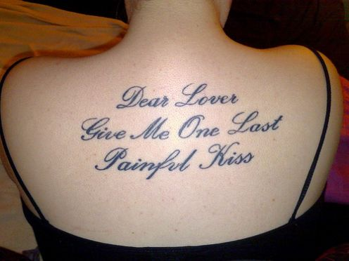 Cool short tattoo quotes for girl tattoomagz for Tattoos good or bad bible