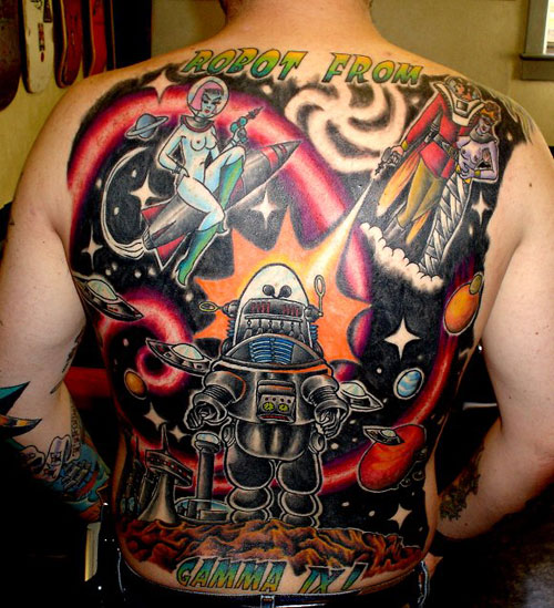 Story Tattoo Design For Your Back