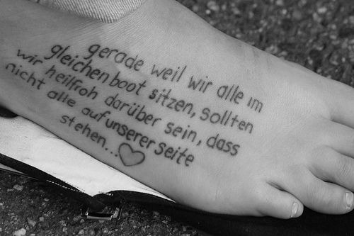 Foot Tattoo Ideas Quotes: Marvelous Short Quote Tattoos For Girls On Foot