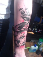 What does Rob Dyrdek's tattoo say?.